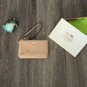 Cream coach wallet